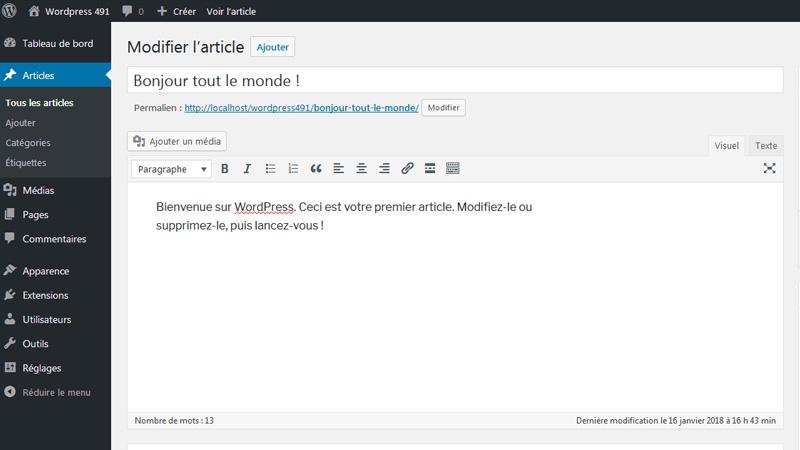 Comment publier un article ou une page dans WordPress ?