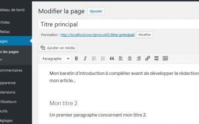 La mise en forme du contenu dans WordPress