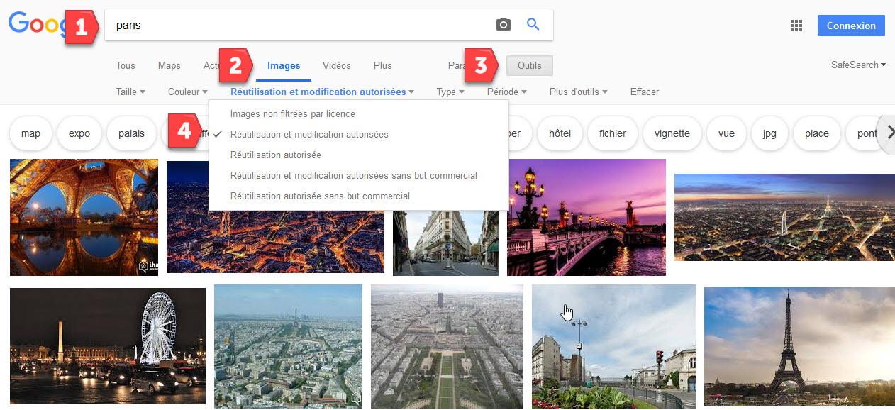 Recherche d'images dans Google