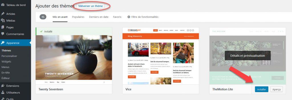 Installation automatique WordPress