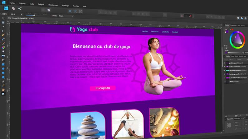Comment faire une maquette de site web avec Affinity Designer ?