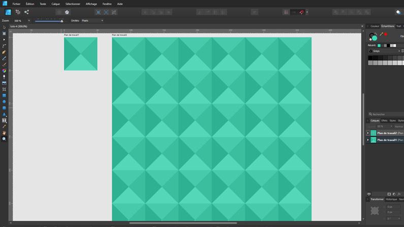 Comment créer un motif ou pattern avec Affinity Designer ?