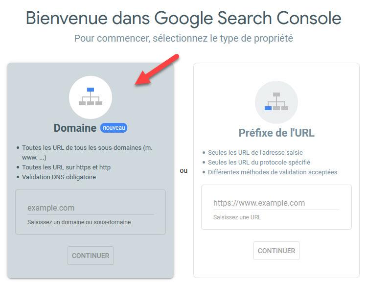 Soumettre son site dans Google par la validation DNS